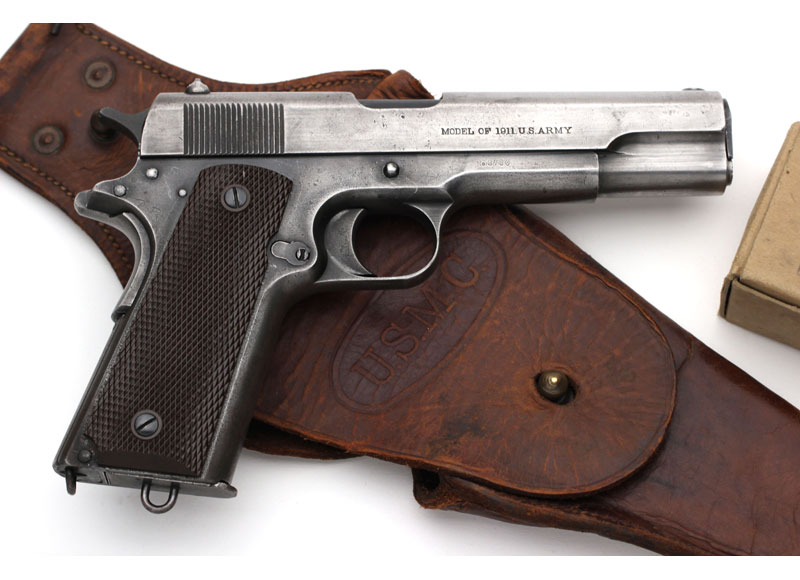 Colt Model of 1911 U.S. Army .45 ACP USMC Contract, First Shipment.